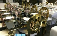 Tables-Chairs-New-Gold-Stainless-Steel-White-Tables